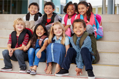 Group of children smiling at the camera